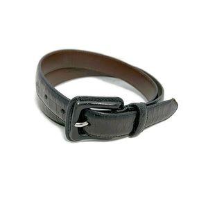 Coach Croc Embossed Calfskin Belt